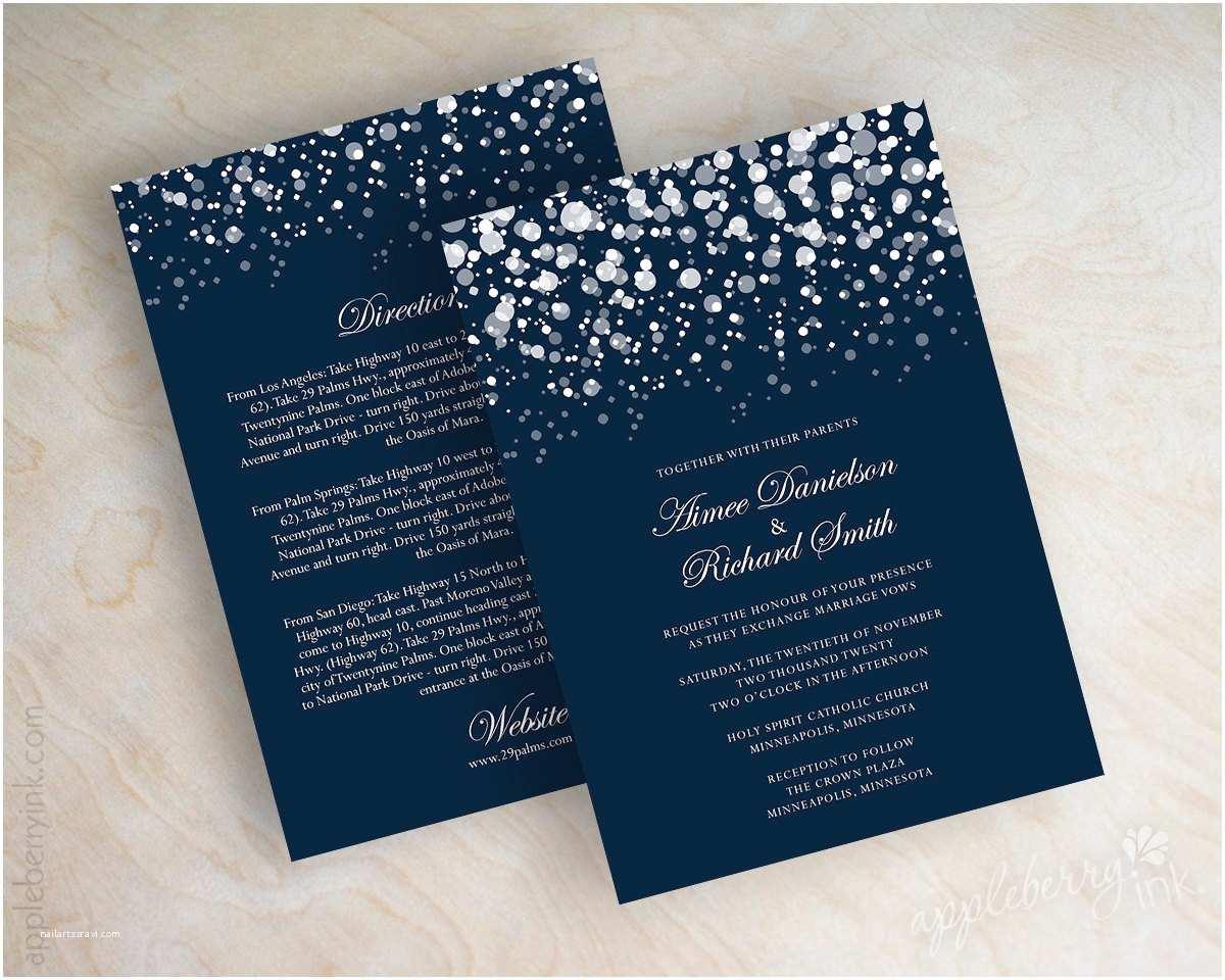 Free Wedding Invitation Maker formidable Starry Night Wedding Invitations
