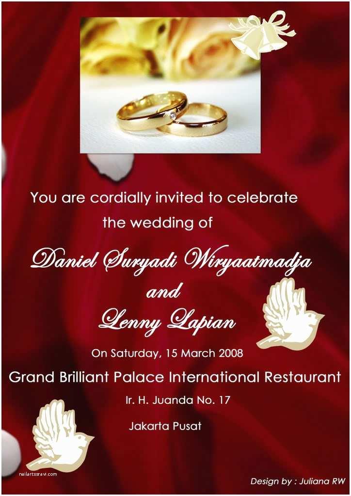Free Wedding Invitation Samples by Mail Wedding Invitation Mail
