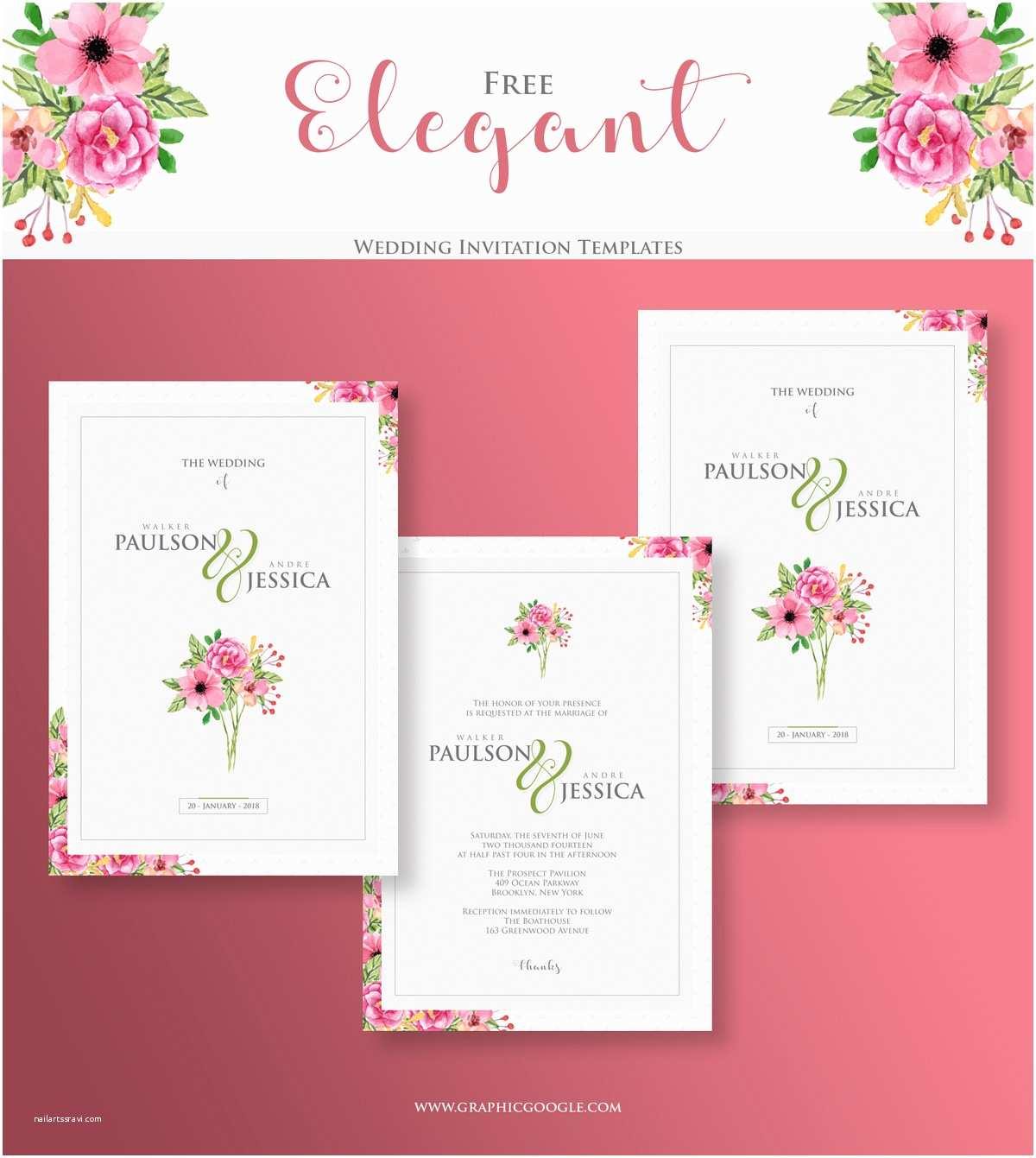 Free Wedding Invitation Samples Free Elegant Wedding Invitation Templates