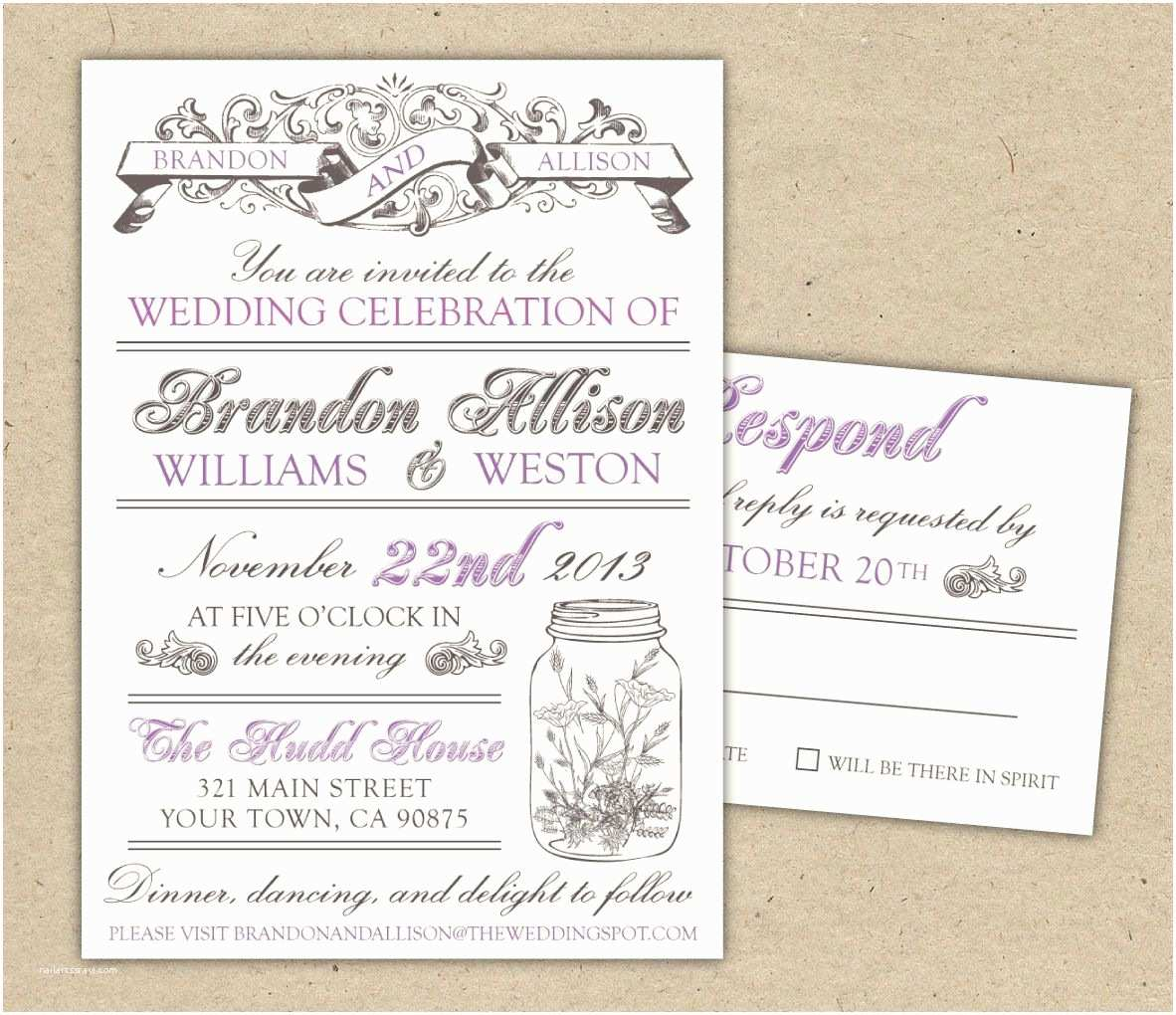 Free Wedding Invitation Samples Free Templates for Invitations