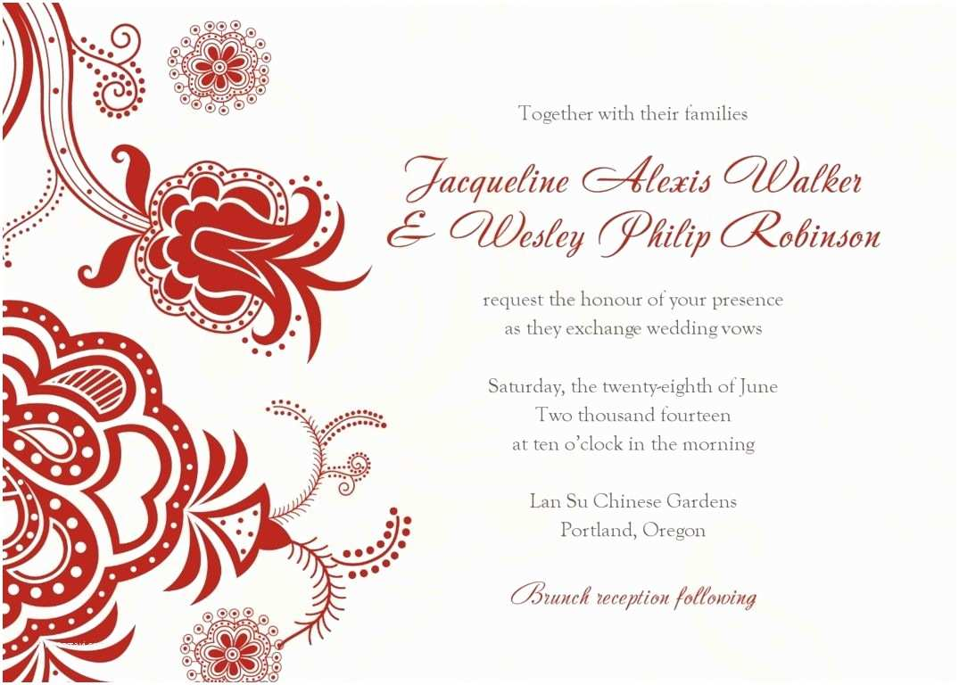 Free Wedding Invitation Samples Invitation Word Templates Free Wedding Invitation