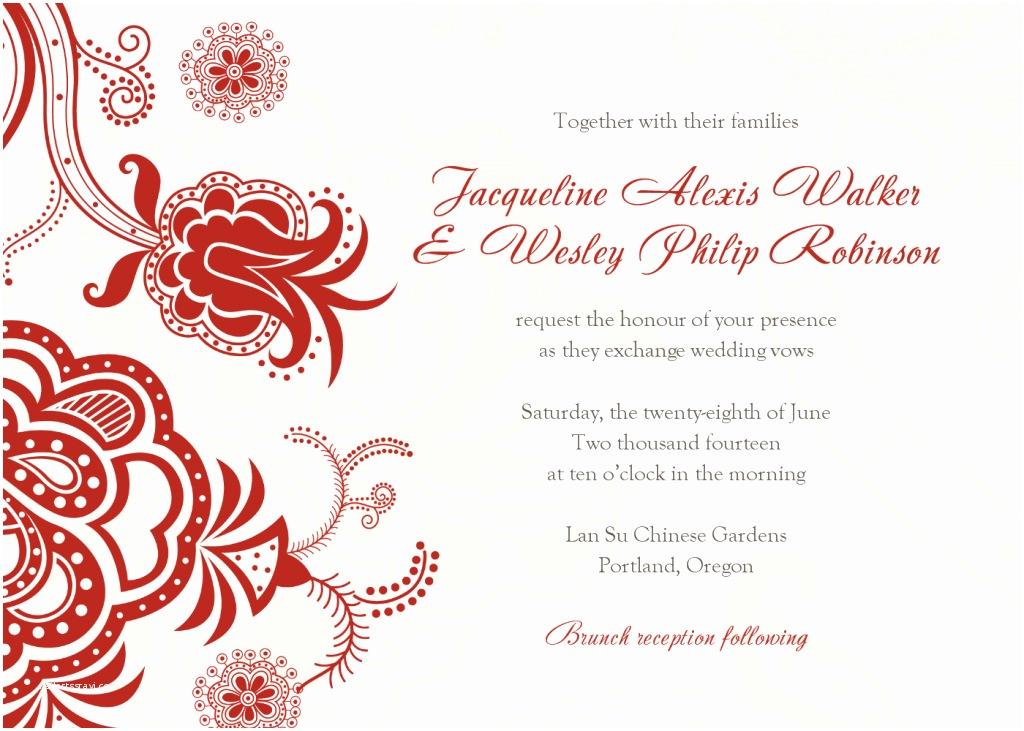 Free Wedding Invitation Samples Wedding Invite Templates