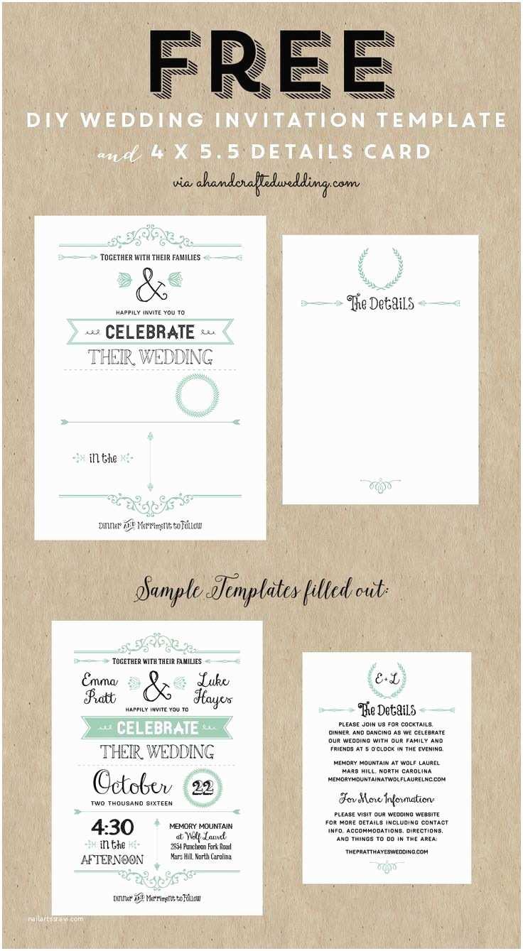 Free Wedding Invitation Templates Best 25 Free Invitation Templates Ideas On Pinterest