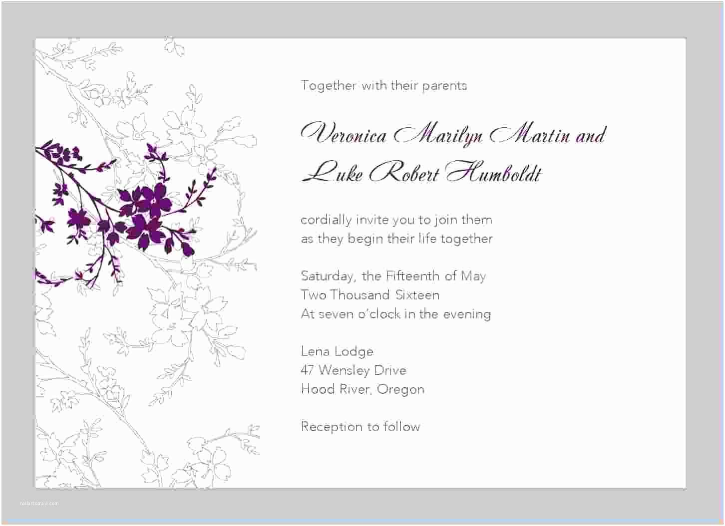 Free Wedding Invitation Templates for Word 11 Free Printable Wedding Invitation Templates for Word