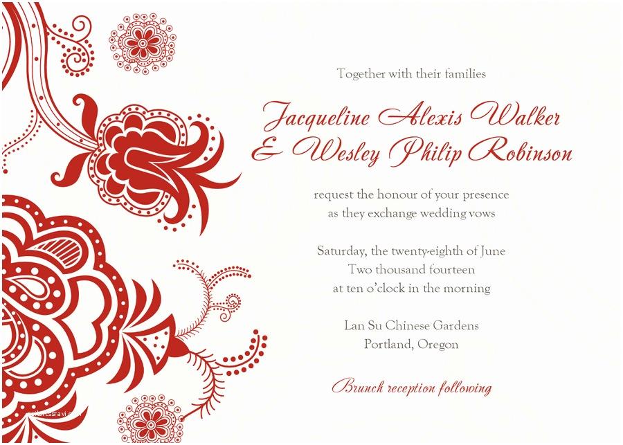 Free Wedding Invitation Templates for Word Free Wedding Invitation Templates