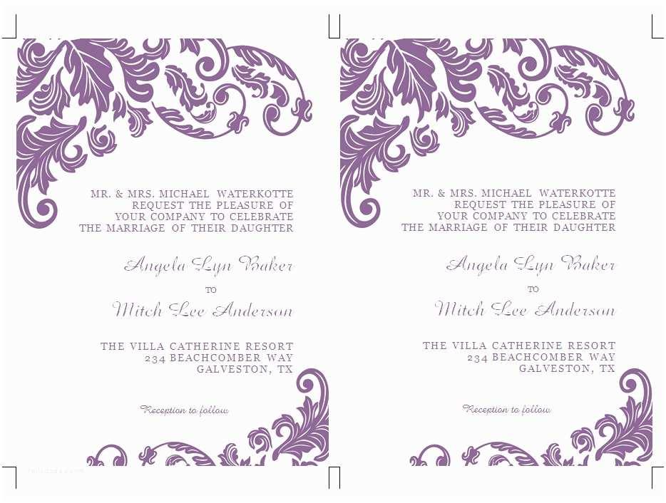 Free Wedding Invitation Templates for Word Microsoft Office Invitation Templates Free Word