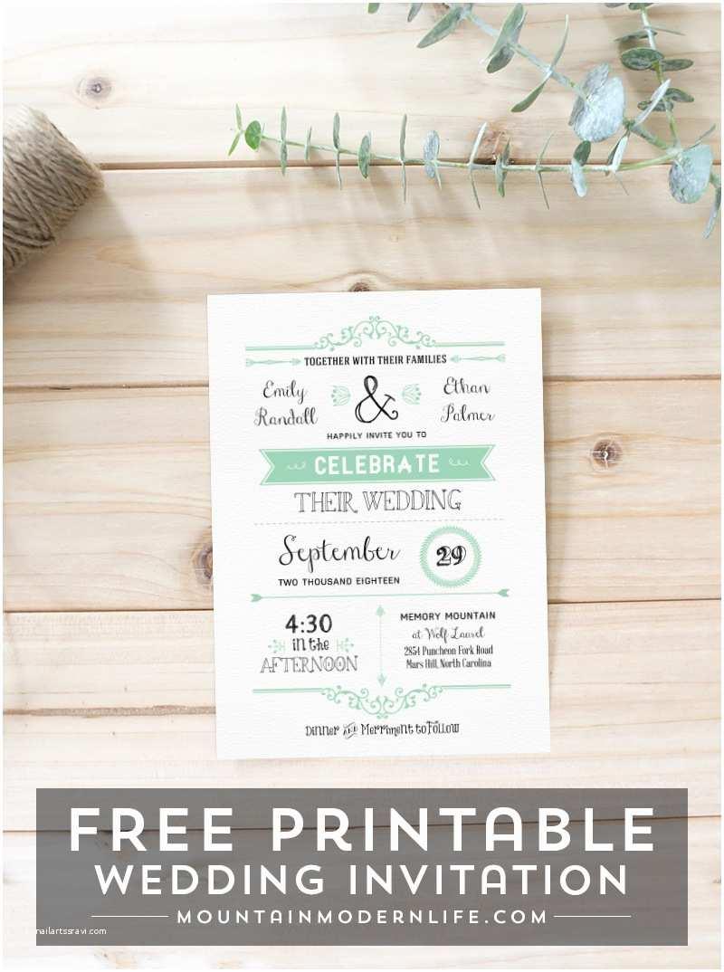 Free Wedding Invitation Templates Free Wedding Invitation Template