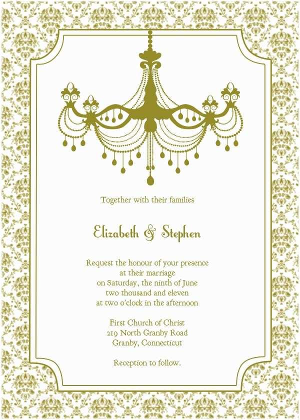 Free Wedding Invitation Templates Silver Wedding Invitations Free Wedding Invitation Templates