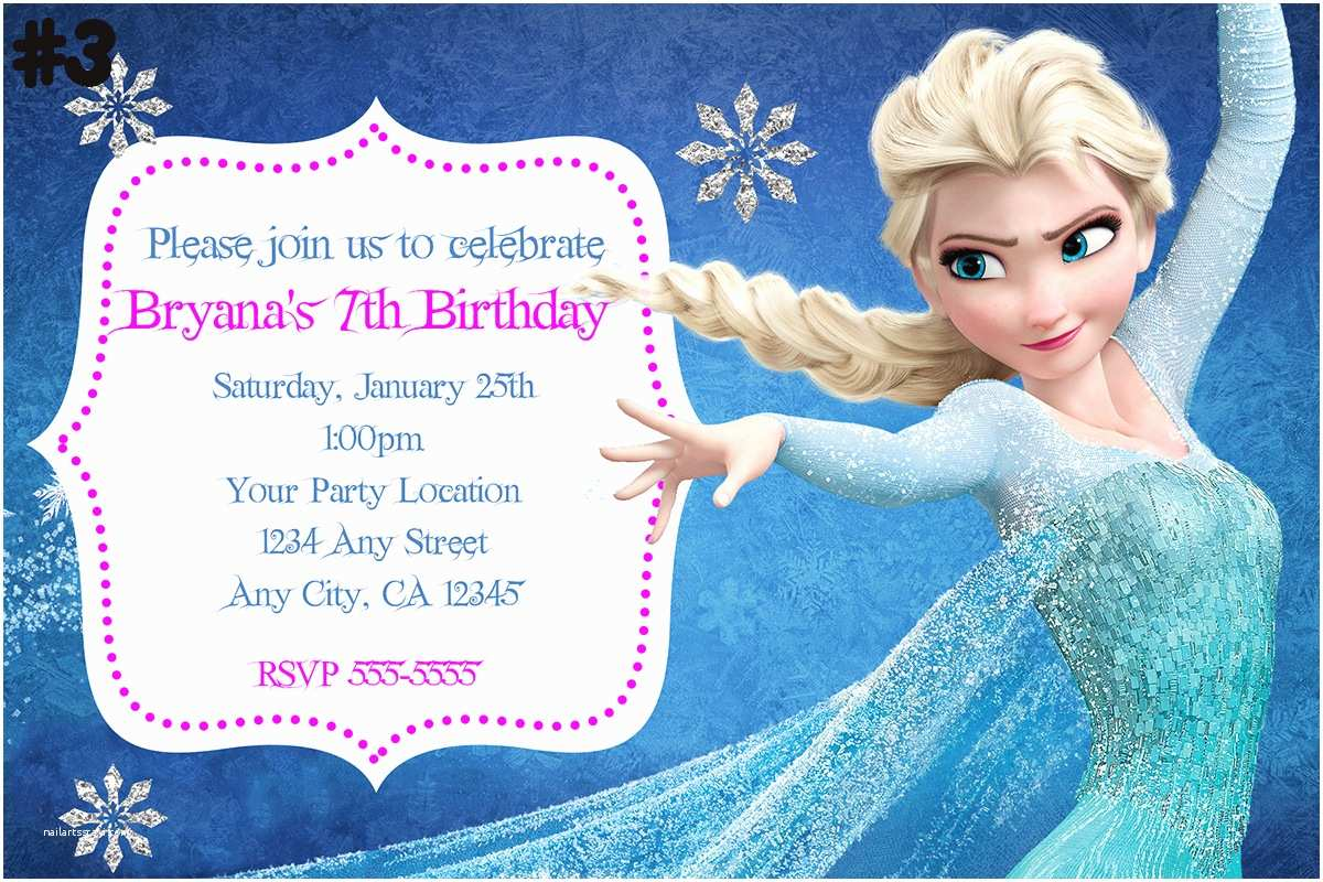 Frozen Birthday Invitation Create Own Frozen Birthday Party Invitations Ideas
