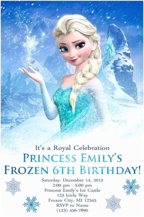 Frozen Birthday Invitation Customized Frozen Birthday Party Invite Digital File