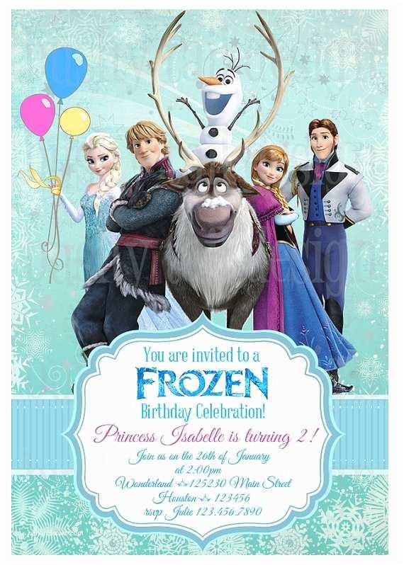 Frozen Birthday Invitation Disney Frozen Birthday Invitation