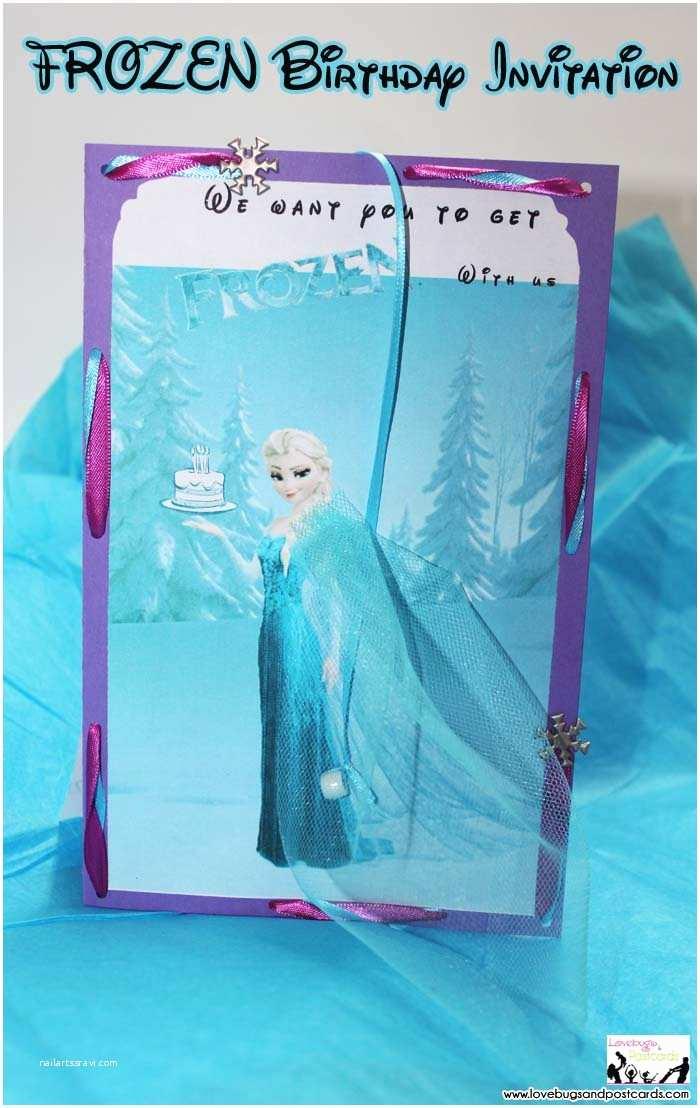 Frozen Birthday Invitation Disney Frozen Birthday Invitation with Free Printables
