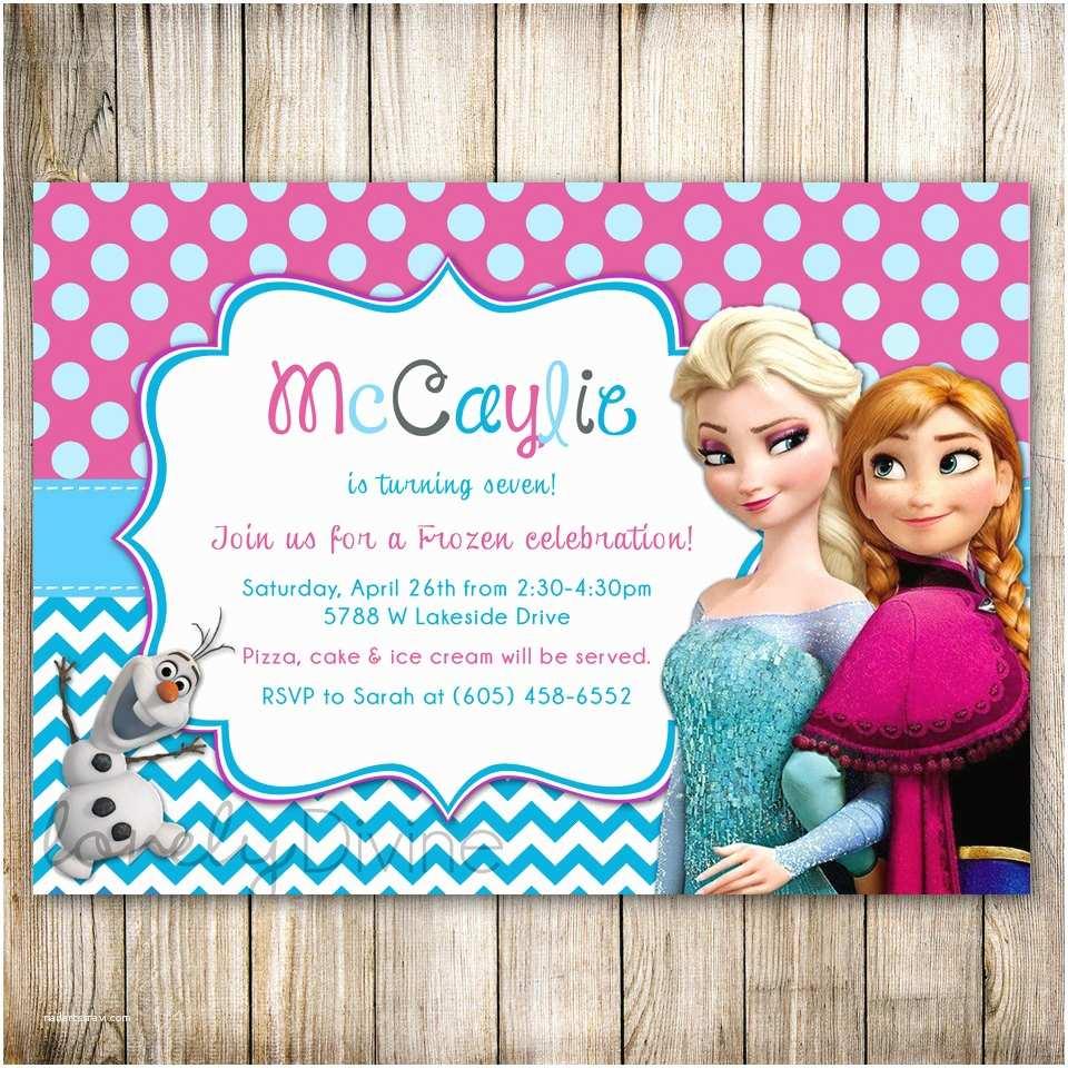 Frozen Birthday Invitation Disney Frozen Chevron Birthday Invitation Frozen Birthday