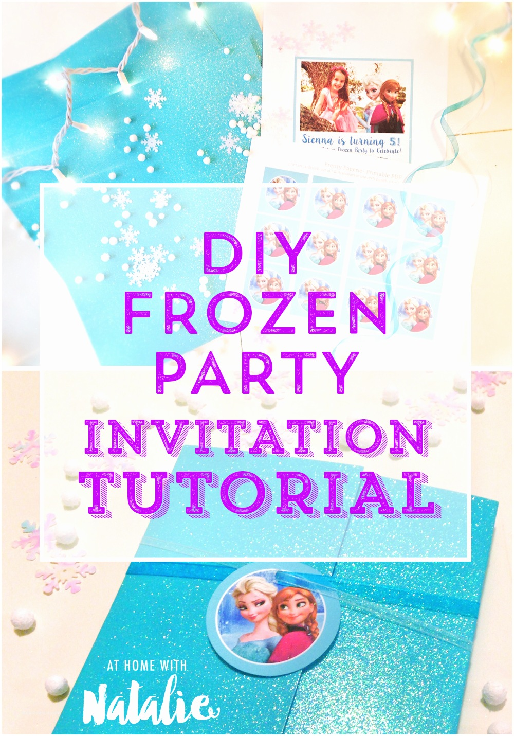 Frozen Birthday Invitation Diy Frozen Party Invitation Tutorial Free Printable at