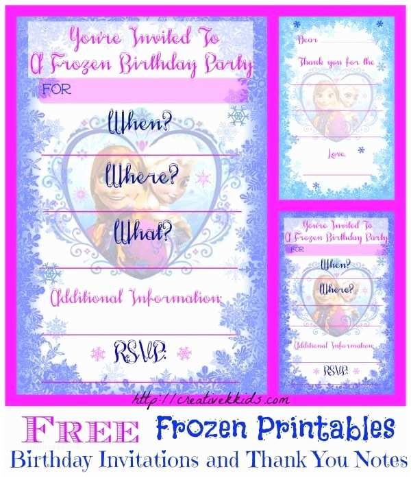 Frozen Birthday Invitation Free Frozen Birthday Party Invitation and Thank You