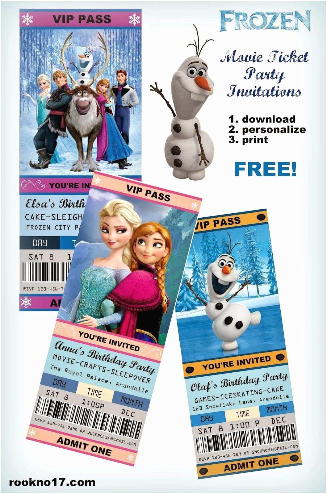 Frozen Birthday Invitation Free Frozen Invitations On Pinterest