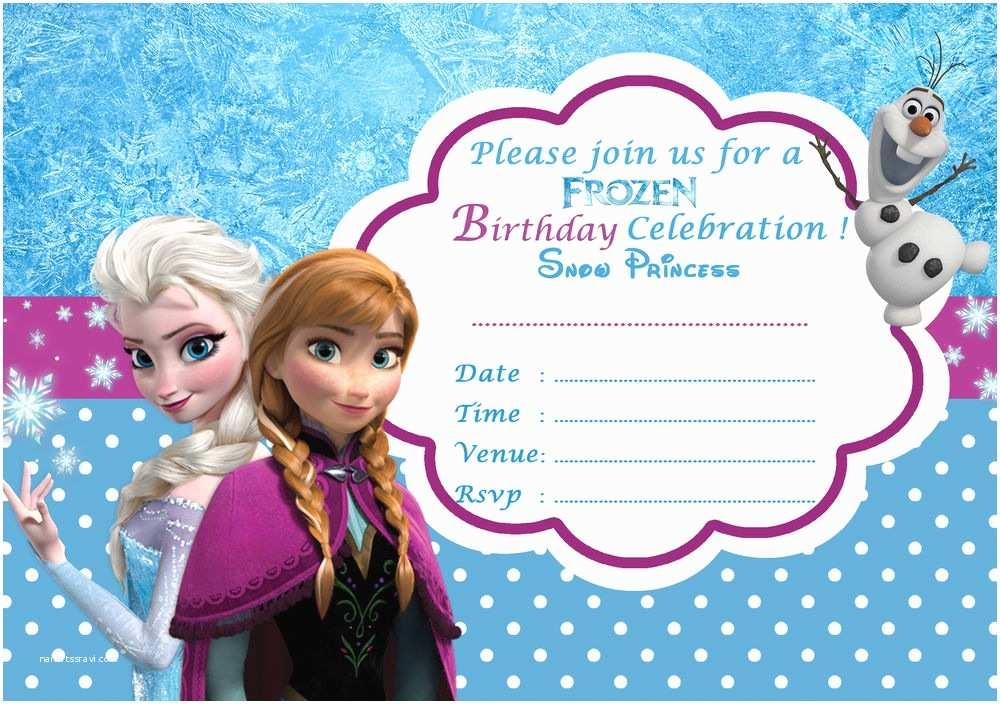 Frozen Birthday Invitation Frozen Birthday Invitation 1
