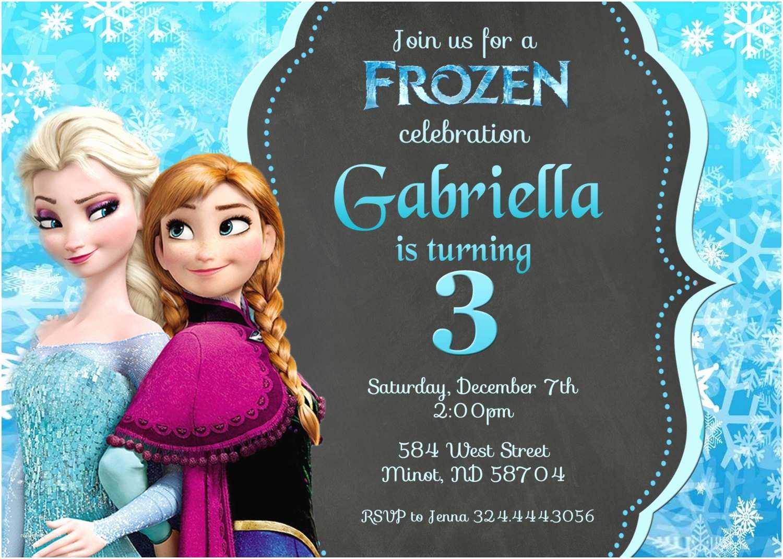 Frozen Birthday Invitation Frozen Invitation Frozen Birthday Invitation by