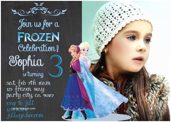 Frozen Birthday Invitation Items Similar to Frozen Birthday Invitation Disney S