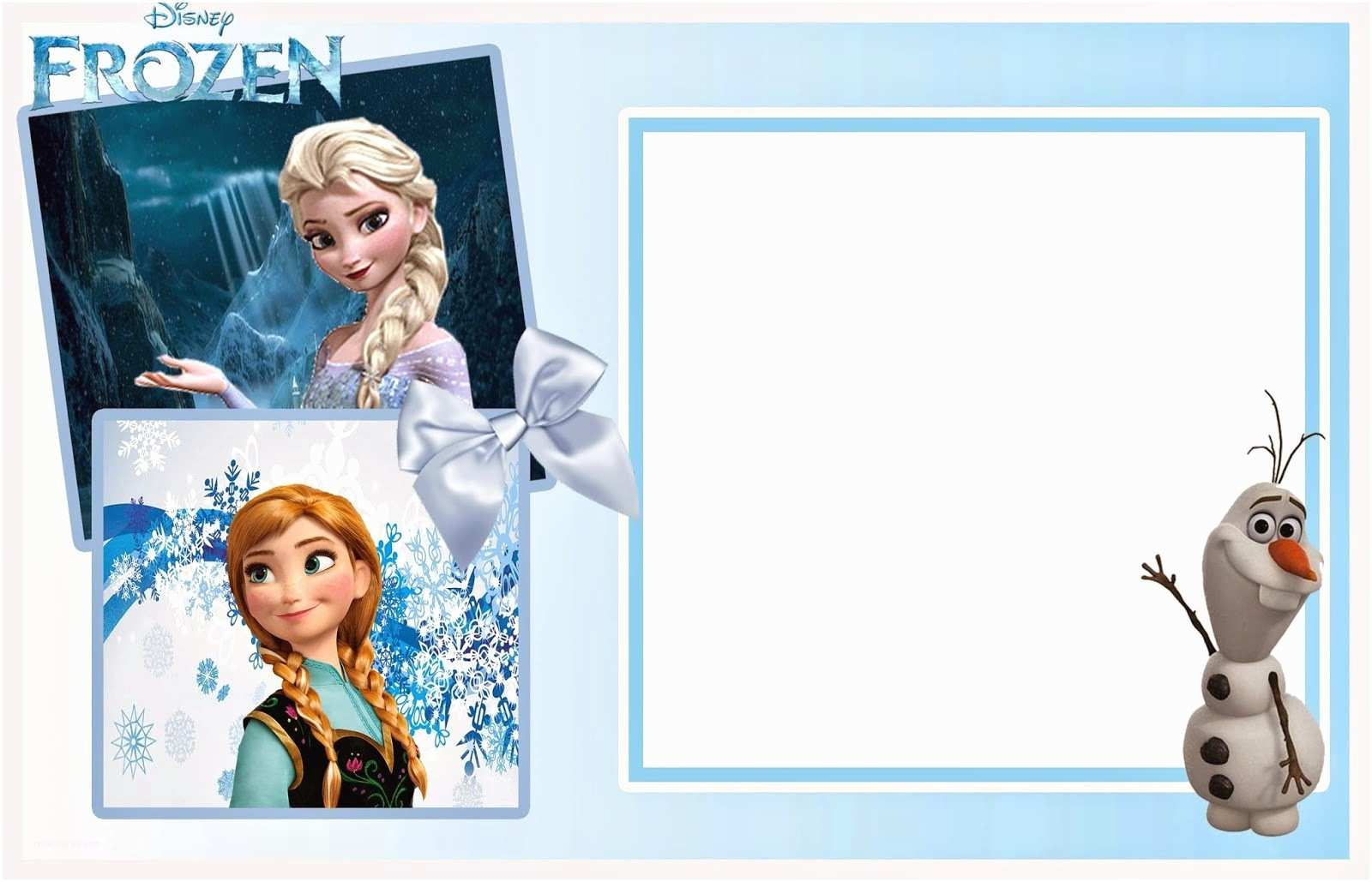 graphic about Free Printable Frozen Invites named Frozen Birthday Invitation consequently Lovable Frozen Cost-free Printable