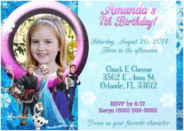 Frozen Birthday Invitations 11 Frozen Invitation Template Free Sample Example