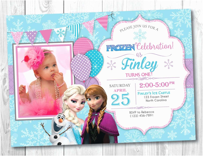 Frozen Birthday Invitations Frozen Birthday Invitation Printable with Frozen