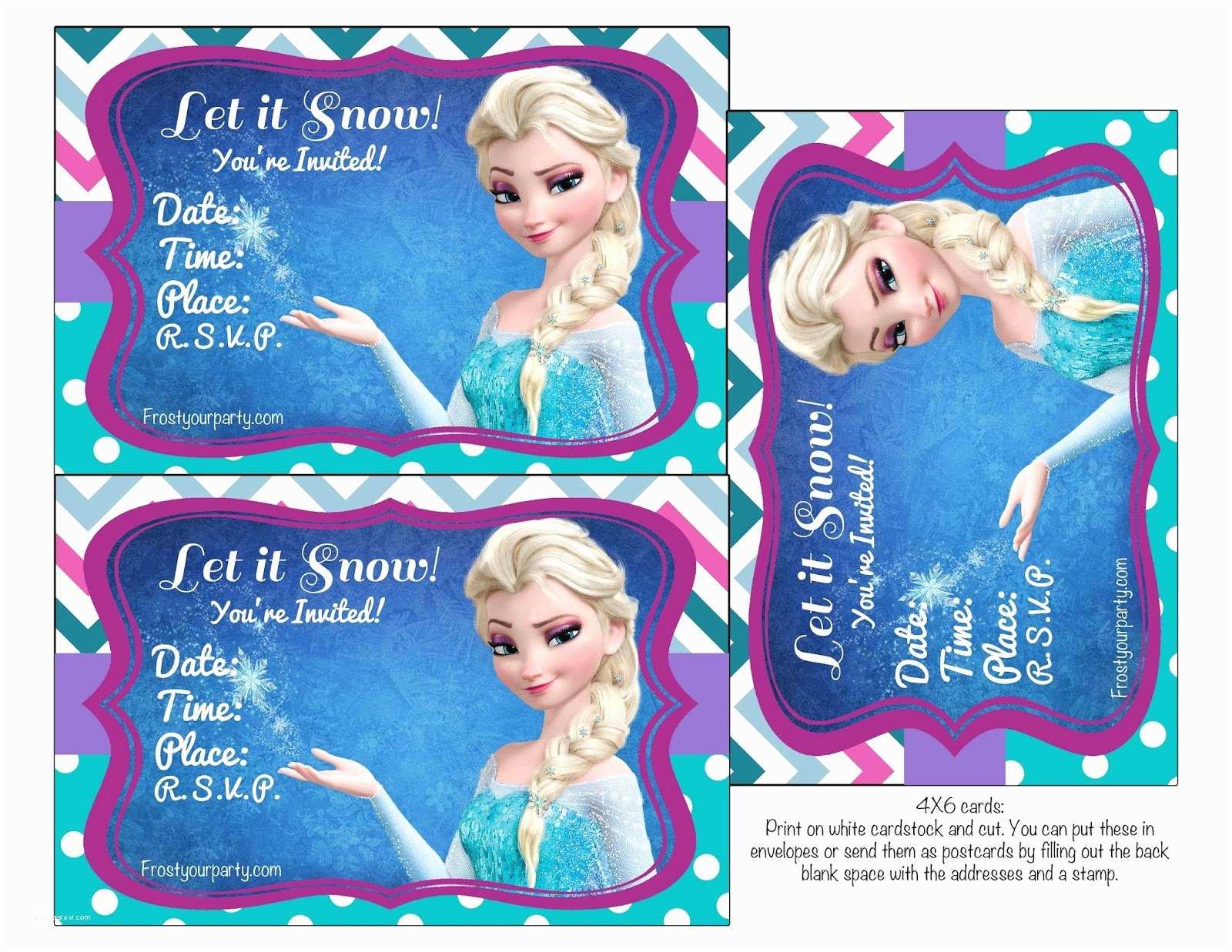 Frozen Birthday Invitations Frozen Birthday Party Birthday Party Invitations and