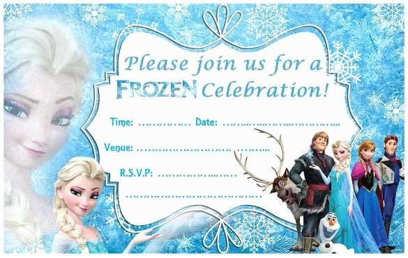Frozen Birthday Invitations Frozen Birthday Party Invitations