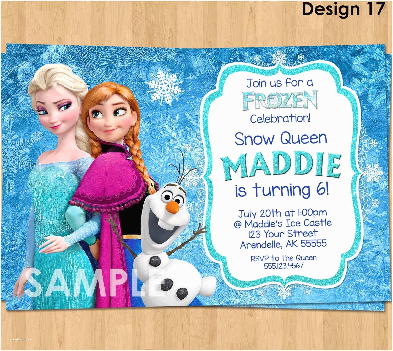 Frozen Birthday Invitations Frozen Invitation Frozen Birthday Invitation Disney Frozen