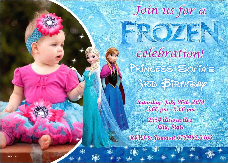 Frozen Birthday Party Invitations Disney Frozen Birthday Party Invitation by