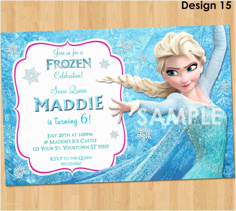 Frozen Birthday Party Invitations Invitation Elsa Printable