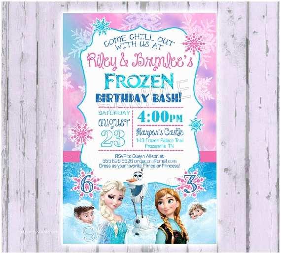 Frozen Birthday Party Invitations Frozen Invitation Frozen Birthday by Poshpaisleyboutique
