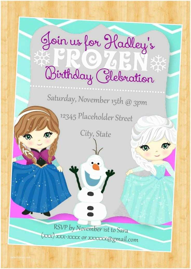 Frozen Party Invitations Best 25 Frozen Invitations Ideas On Pinterest