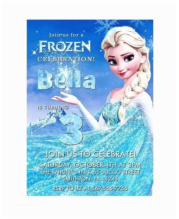 Frozen Party Invitations Disney Frozen Birthday Party Invitation Invite Printable