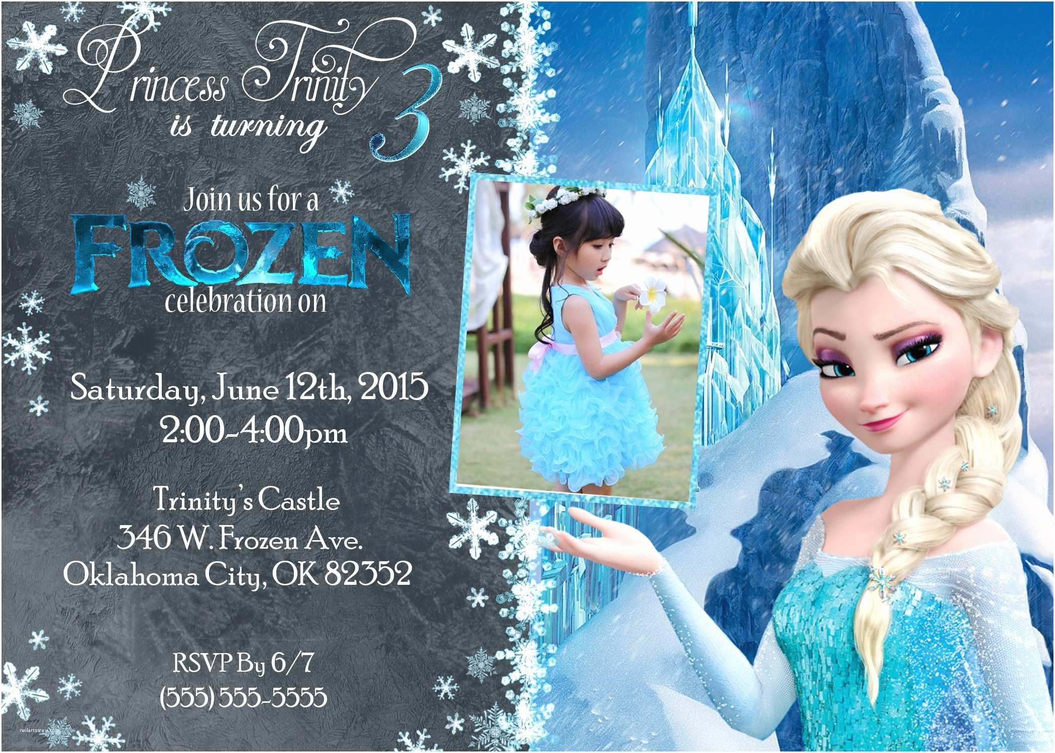 Frozen Party Invitations Frozen Birthday Invitations