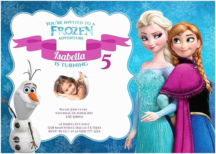 Frozen Party Invitations Frozen Birthday Party Invitation by Partysprinkles