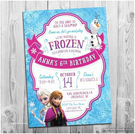 Frozen Party Invitations Frozen Birthday Party Invitation Printable Frozen Invite