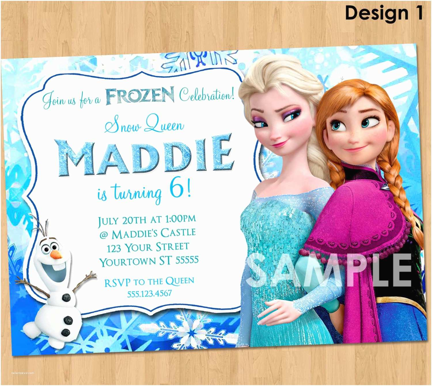 Frozen Party Invitations Frozen Invitation Frozen Birthday Invitation Disney Frozen