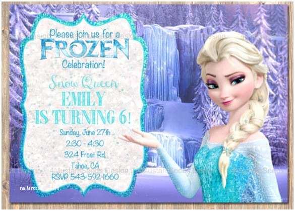 Frozen Party Invitations Frozen Invitation Template