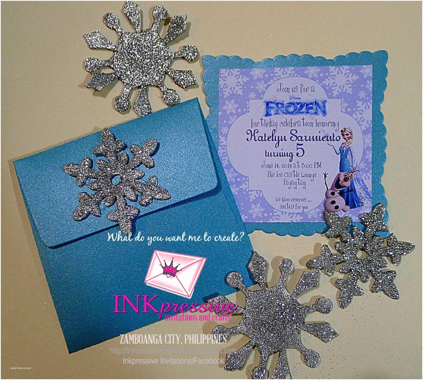 Frozen Party Invitations Frozen Party Invitations