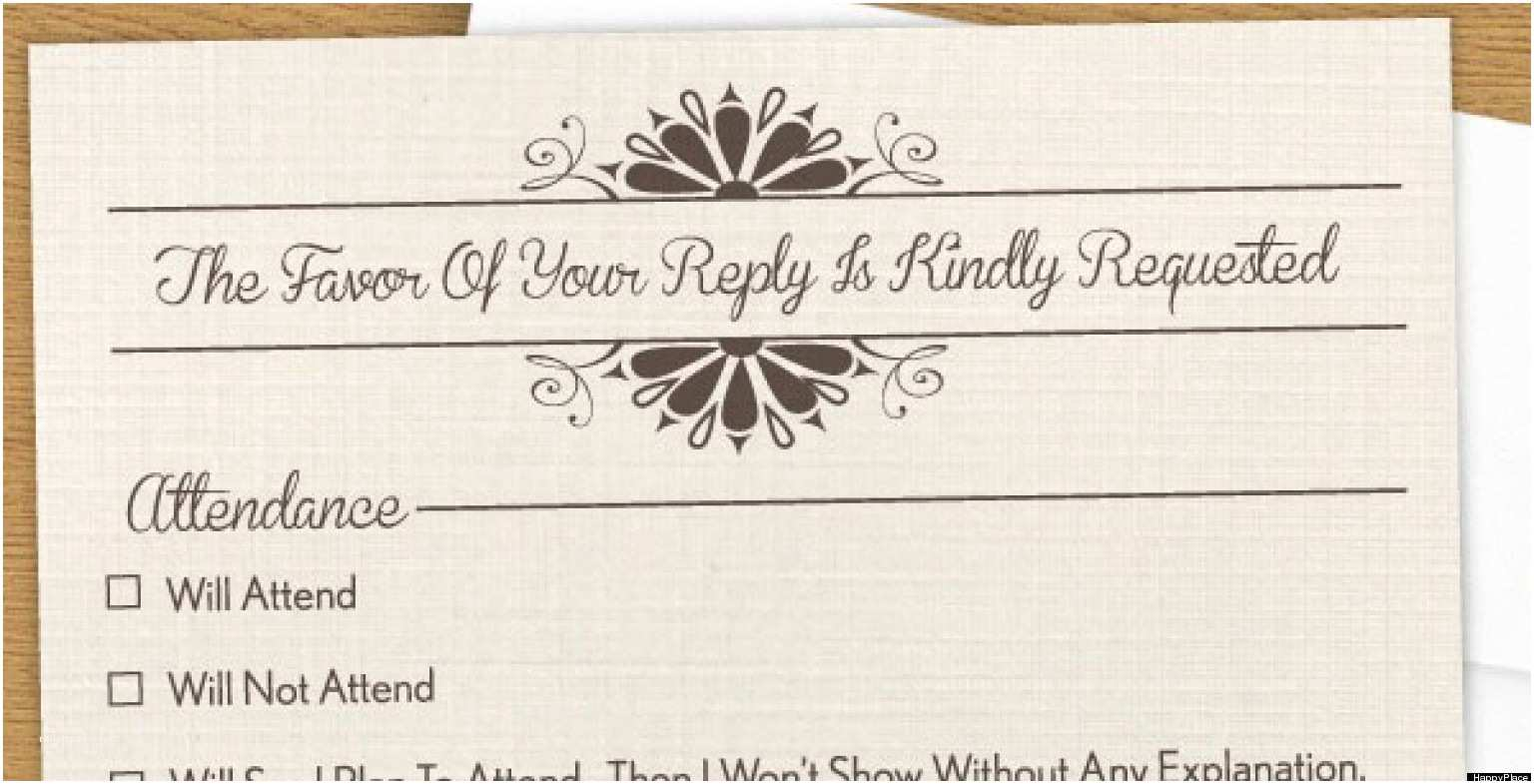 Fun Places to Send Wedding Invitations Funny Rsvp the Invitation You Wish You Could Send Photo