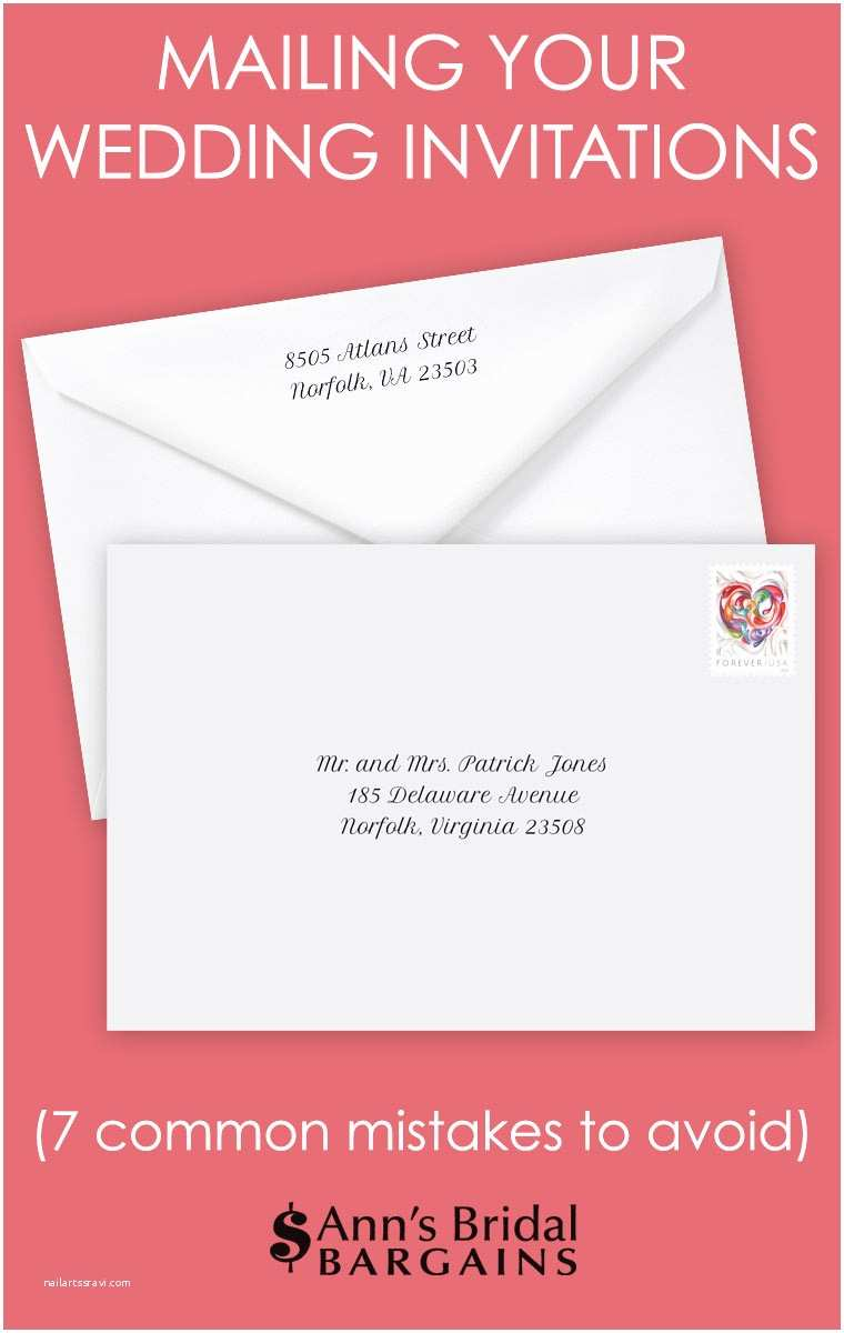 Fun Places to Send Wedding Invitations Mailing Invitations 7 Mon Mistakes
