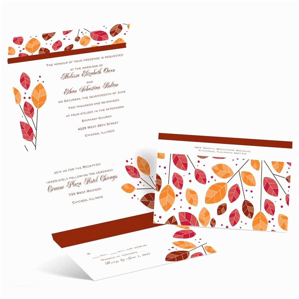 Fun Places to Send Wedding Invitations Modern Leaves Seal and Send Invitation