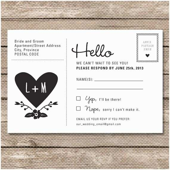 Fun Places To Send Wedding Invitations Postcard Rsvp Maybe Cheaper Than Including An