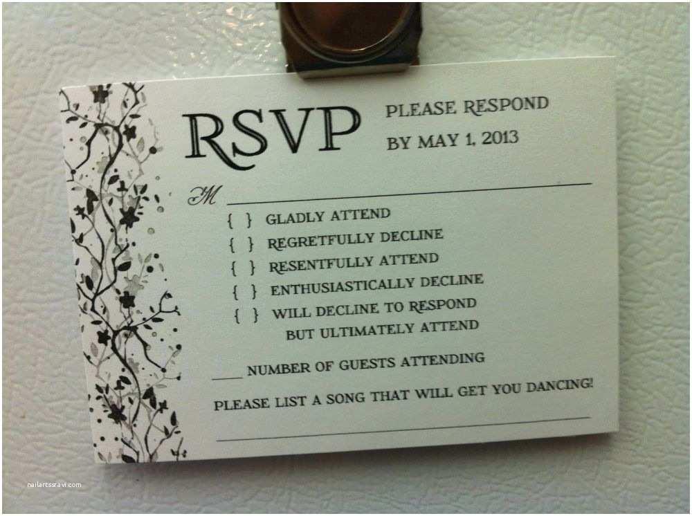 Fun Places To Send Wedding Invitations Wedding Invitation Response Card Wording