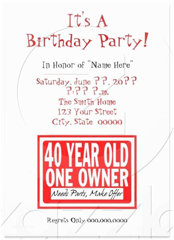 Funny Birthday Invitations 7