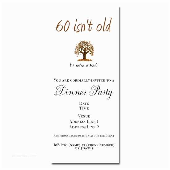 Funny Birthday Invitations 60th For