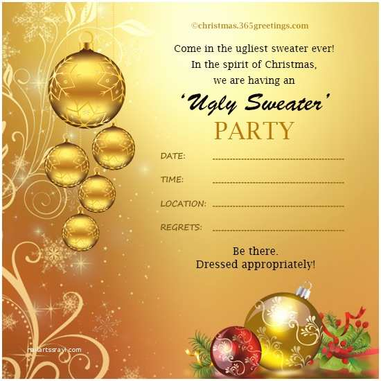 Funny Christmas Party Invitation Wording Christmas Invitation Template and Wording Ideas
