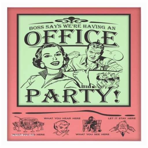 Funny Christmas Party Invitation Wording Funny Fice Party 5 25x5 25 Square Paper Invitation Card