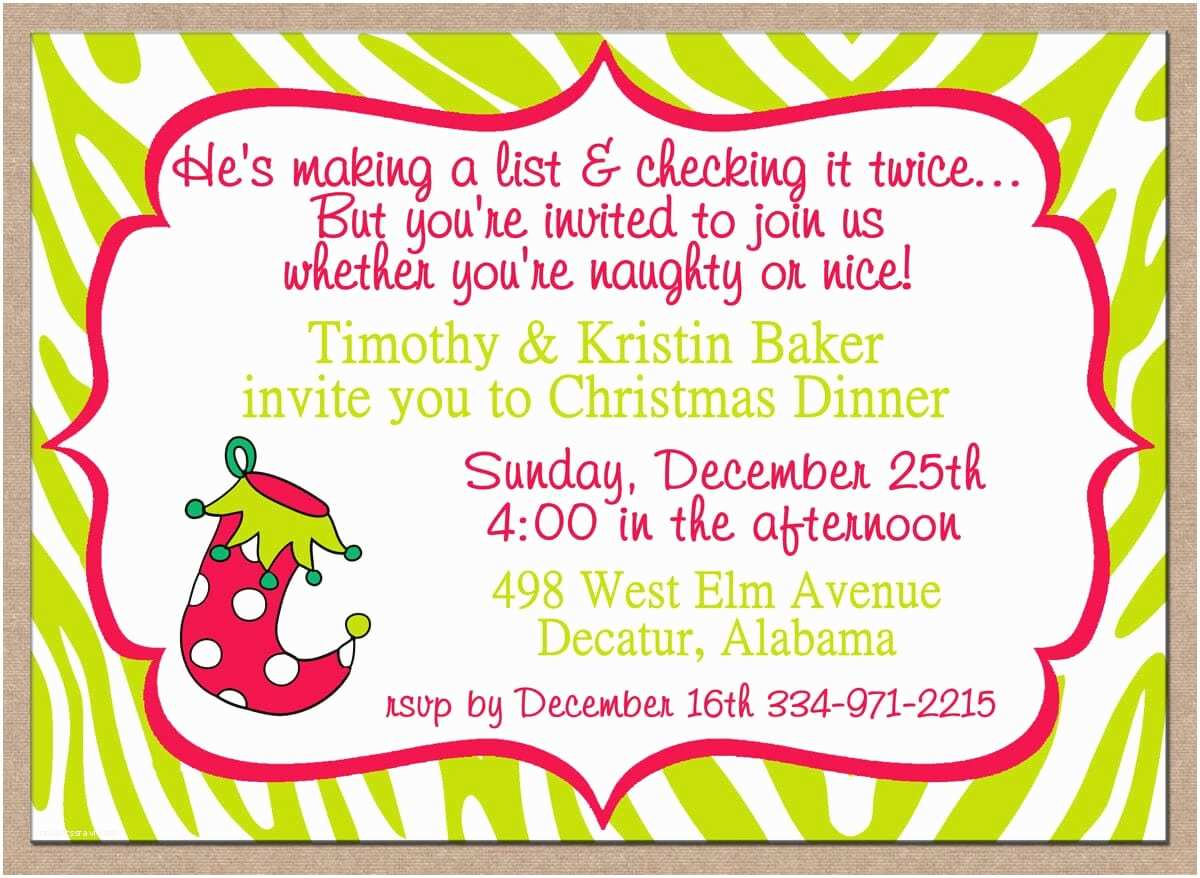 Funny Christmas Party Invitation Wording Funny Wording for Christmas Party Invitations